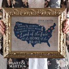 Is there someone in the military that you would like to honor? This piece is a great way to show your appreciation! Personalize it with a name and military branch for an EXTRA special and meaningful gift!http://www.mymaryandmartha.com/nsmith
