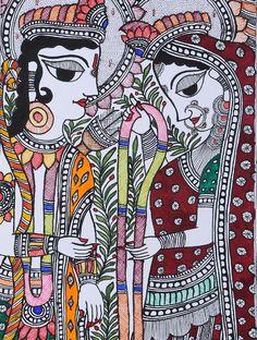 Ram Sita Madhubani Painting x Madhubani Painting, Madhubani Art, Outline Drawings, Art Drawings, Indian Folk Art, Indian Artist, Indian Art Paintings, Drawing Sketches, Sketching