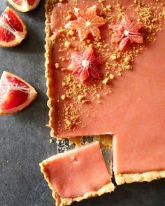 Blood Orange Custard Tart