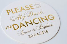 Personalized Please Don't Take My Drink I'm by PinkPoppyWeddings