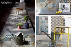 Azulej porcelain patterned tiles by Patricia Urquiola available from Surface Tiles. Shown in Grigio here.