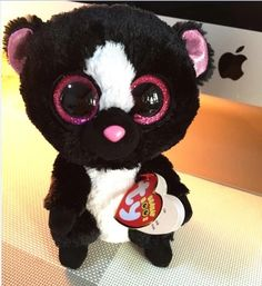 TY beanie boos collection collection beanie big eyes stuff doll toy 6 inches black skunkl flora