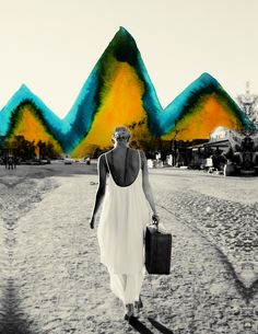 Alexandra Valenti takes amazing black and white photos, often of wild, free-spirited woman and then paints over them. Crafturday shows you some of her work. Photomontage, Art Photography, Fashion Photography, Editorial Photography, Design Digital, Collage Art, Art Collages, Collage Portrait, Photo Art