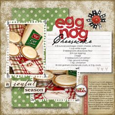 Eggnog Recipe layout, I'm loving recipe layouts lately