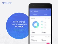 Weaver POS - UI designed by Dilip Prasad. Connect with them on Dribbble; Mobile Ui Design, App Design, Tablet Ui, Android Design, Interactive Design, Data Visualization, Iphone, User Interface, Graphic