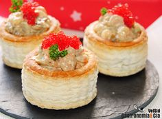 Vol au vent relleno Vol Au Vent, Special Recipes, Bite Size, Catering, Stuffed Mushrooms, Good Food, Brunch, Appetizers, Relleno