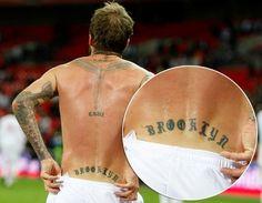 David Beckham's tattoos (© Rex)