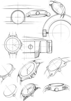 Customizable Watch Design VOOC Watch Design on Behance Sketch Inspiration, Design Inspiration, Watch Drawing, Drawing Sketches, Drawings, Watch Sketches, Used Watches, Object Drawing, Industrial Design Sketch