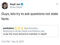 lol Jae was right Day6 Jae Twitter, Jae Day6, Young K, Bob The Builder, Korean Boy, Drama, Kpop Groups, K Idols, Just In Case