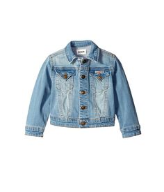Baby & Toddler Clothing Hudson Boutique Wear Girls 2t Denim Jean Blue Snap Front Jacket Destroyed Look
