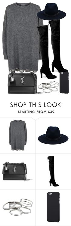 """Style #11283"" by vany-alvarado ❤ liked on Polyvore featuring R/R Studio, rag & bone, Yves Saint Laurent, Stuart Weitzman and Kendra Scott"