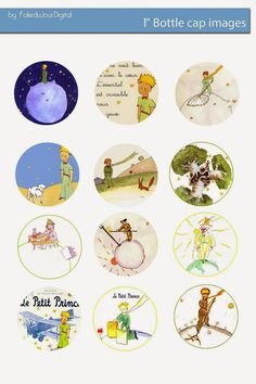 Free Bottle Cap Images: Le Petit Prince Free digital bottle cap images
