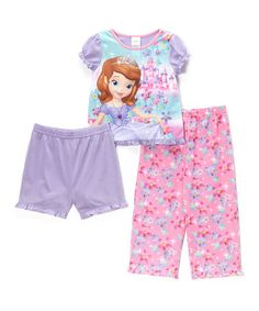 Look at this #zulilyfind! Pink & Purple Sofia the First Pajama Set - Girls by Sofia the First #zulilyfinds