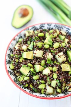 Quinoa Salad with Edamame, Cucumber and Avocado Recipe on twopeasandtheirpod.com Love this healthy salad! #glutenfree #vegan