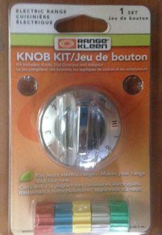 Electric Range Knob Kit by Range Kleen, 1 Individual ~ Silver