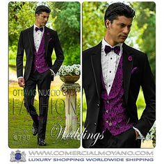 Oh yeah...can we have some more, please? Ottavio Nuccio Gala 2015 Fashion Collection. In addition to colorful collection, Ottavio Nuccio Gala introduces bow ties coordinating with pure silk vests, great for garden or beach evening wedding! Hot or Not?
