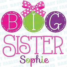 Iron on Transfer  Dots  Big Brother. Big Sister. by babyfables, $5.00