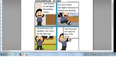 Toondo is an easy and engaging tool .It's useful to make comics with your students.Although it only allows a three panel strip,you can link several to make a Toonbook.