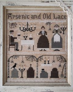Arsenic and Old Lace - DIGITAL Cross Stitch Pattern by THE LITTLE STITCHER