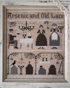 Arsenic and Old Lace - DIGITAL PDF Cross Stitch Pattern