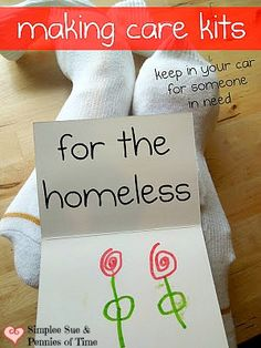 Portable Care Kits for the Homeless: GREAT service project for clubs and organizations.