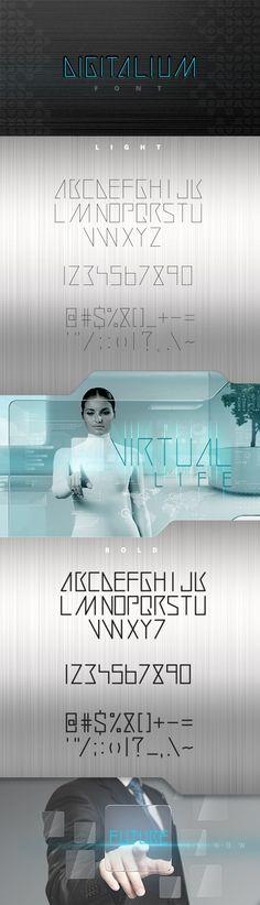 Digitalium Future Technology Line Art Font | sellingpix | high quality trendy images