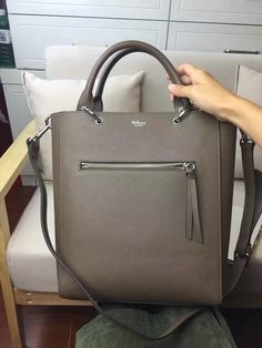 2017 Spring Mulberry Small Maple Tote Bag Clay Natural Grain Leather