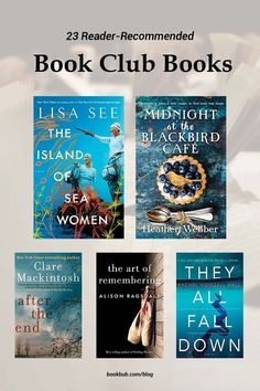 The best book club books to read with your group, based on reader recommendations. #books #bookclub #bookclubbooks