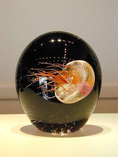 GlassMasters Chris Lowry & Christopher Richards Sideways Jellyfish Peach