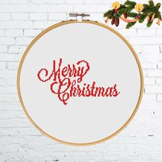 Excited to share the latest addition to my #etsy shop: Merry Christmas cross stitch pattern, Easy cross stitch Christmas pattern, Xmas cross stitch modern xstitch pattern quote cross stitch #merrychristmas #crossstitchpattern #easycrossstitch #stitchchristmas #christmaspattern http://etsy.me/2AmPoT5