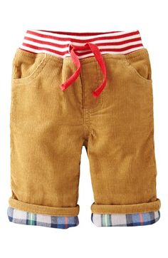 Mini Boden 'Cozy' Lined Pants (Baby Boys) available at #Nordstrom