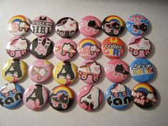 24 Roller Skate Skater Girl  craft Flat Back by CraftyGoodies, $8.00