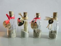 12 Mini Message Bottle FAVORS GIFTS or PLACE by WeddingsAway