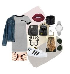 """""""Untitled #3"""" by majoc99 on Polyvore featuring MARA, Madewell, adidas, Lisa Perry, Lime Crime, Ray-Ban, Big Bud Press, Saachi and Topshop"""