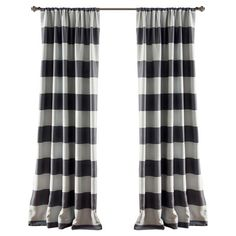 Add a pop of pattern to your master suite or guest room with this lovely curtain panel, showcasing a blackout design and gray stripes.    ...