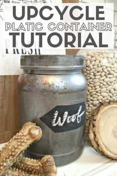 Reuse plastic jars and create stylish storage containers for your home! Great for organizing and decorating your space. Click here for the tutorial! #thcraftyblogstalker #organizingcontainers #storagecontainers #organizing #upcycle Chalk Paint Mason Jars, Painted Mason Jars, Recycling Containers, Storage Containers, Plastic Containers, Plastic Bottles, Mason Jar Crafts, Mason Jar Diy, Easy Diy Crafts