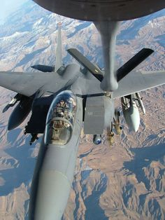 KC-135 STRATOTANKER - REFUELING F-15  ---I have seen this view!  *swoons*