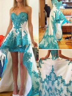 A-line Princess Sweetheart Neck Appliqued Homecoming Dresses Sleeveless Prom Dresses ASD2568