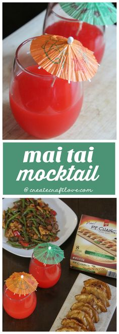 Spice things up by pairing this delicious Mai Tai Mocktail with dumplings and stir fry for an easy weeknight dinner! Vegan Gluten Free, Vegan Vegetarian, Mai Tai, Easy Weeknight Dinners, Shake Recipes, Dumplings, Yummy Drinks, Stir Fry, Spice Things Up