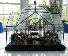 Mini Conservatory by Smith and Hawken Terrarium Miniature Miniature Greenhouse, Indoor Greenhouse, Greenhouse Ideas, Miniature Gardens, Garden Terrarium, Glass Terrarium, What Is A Conservatory, Paludarium, Landscaping