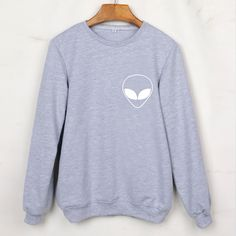 a56efc964 New 2017 Alien Print Sweatshirts Sleeve Grey Tumblr Women Hoodies  Tracksuits Moleton Feminino Chandal Femme Plus Size Hoody