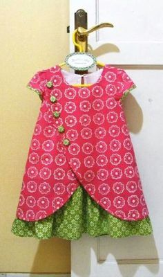Would love to see a similar pattern for women. I love the crossover, buttons and ruffled underskirt. Batikids: