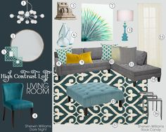 **PILLOWS** Mood Board Inspiration: Manhatten Tri-Level - I need the painting! Living Room Inspiration, Family Room Design, Trendy Living Rooms, Room Colors, Room Inspiration, Family Room, Living Room Designs, Small Room Design, Room Design