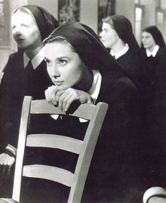 Audrey Hepburn in 'The Nun's Story', 1959 - Before she takes her final vows as a nun, & go to the school for tropical medicine. She must learn to practice poverty, charity & above all obedience, which for a smart, headstrong girl like Gabrielle, she finds these things difficult to achieve in her new life.