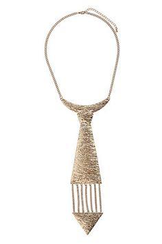 Textured Tie Necklace