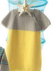 Heft Baby 60 Frühjahr / Sommer | 2: Baby Kleid | Gelb / Hellgrau