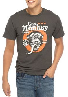 Fifth Sun™ Men's Short Sleeve Vintage Gas Monkey Graphic T-Shirt. Crafted in soft cotton, this t-shirt by Fifth Sun™ boasts a vintage gas monkey graphic. Yeezy Outfit, Monkey T Shirt, Gas Monkey Garage, T Shirt Time, Mens Yeezy, Boho, Sleeves, Mens Tops, Cotton