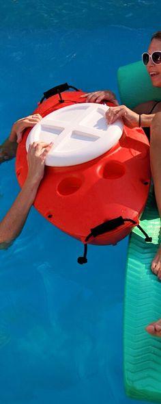 CreekKooler Towable Cooler Storage Raft Kayak Canoe Inner tube Boat Pool 30 QT