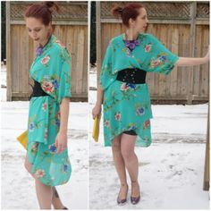 Rocking @Forever 21 #kimono worn as a dress! See more looks!: http://www.thepurplescarf.ca/2014/02/Fashion-Style.My-Style-Kimono.Style-Far-East-Versatility.html #fashion #style