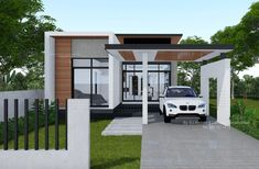 This Modern House Design may be your Ultimate House that you have been Dreaming of! - House And Decors Small Modern House Exterior, Modern Bungalow House Design, Small Modern House Plans, Simple House Design, Sims House Plans, House Layout Plans, House Layouts, Architectural House Plans, 3d Home